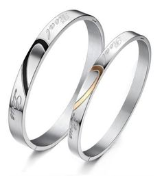 His or Hers Matching Set Couple Titanium Bangle Bracelet Heart with Heart Magnetic Simple Korean Style amaze-boots.com $89.99 cheap ugg boots for Christmas gifts.Just in low price.