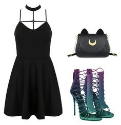 """""""Sin título #167"""" by sabrina-martinez-soto on Polyvore featuring moda, WithChic y Usagi"""