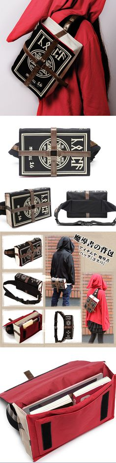 Bags and Pouches 175641: Retro Magic Book Shaped Shoulder Bag Backpack Messenger Bags Canvas Usa Shipping -> BUY IT NOW ONLY: $31.25 on eBay!