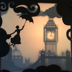 Disney Shadow Box, Mary Poppins Silhouette, Cinderella Aesthetic, Wood Burning Stencils, Classic Disney Characters, Shadow Silhouette, Silhouette Cameo Machine, Shadow Art, Bee Art