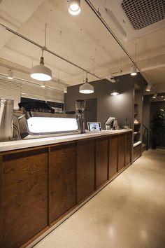 Arvo café natural and modern café design designed by design danaham 아르 Cafe Interior Design, Commercial Interior Design, Cafe Design, Commercial Interiors, Interior Modern, Scandinavian Interior, Design Design, Coffee Shop Bar, Coffee Shop Design