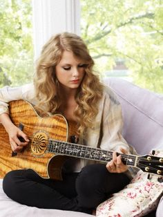 "One of Taylor swifts amazing guitars ""Everybody has that point in their life where you hit a crossroads and you've had a bunch of bad days and there's different ways you can deal with it, and the way I dealt with it was I just turned completely to music."""