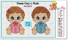 E-mail – Vera Pereira – Outlook Baby Girl Patterns, Doll Patterns, Beading Patterns, Embroidery Patterns, Cross Stitching, Cross Stitch Embroidery, Cross Stitch Patterns, Cross Stitch Baby, Crochet Chart