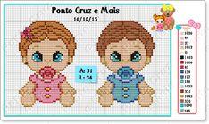 Ponto Cruz e Mais: Bebês Fofinhos!!