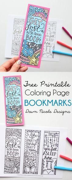 Marvelous Photo of Bookmark Coloring Pages Bookmark Coloring Pages Free Printable Coloring Page Bookmarks Dawn Nicole Designs Kids Crafts, Arts And Crafts, Paper Crafts, Kids Diy, Summer Crafts, Decor Crafts, Free Printable Coloring Pages, Free Printables, Printable Art