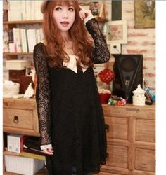 Fashionable Baby Collar Lace Flower Dress    $25.95