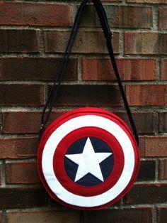 Captain America shield bag @Ashley Walters Walters Walters McNutt  !!