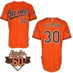 Chris Tillman Baltimore Orioles # 30 1954-2014 60th Anniversary Orange Cool Base Stitched MLB Jersey