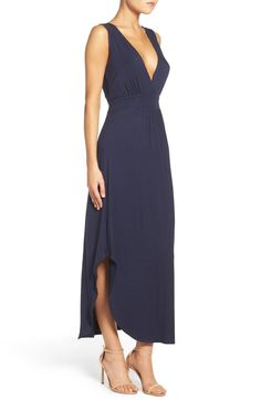 Main Image - Fraiche by J V-Neck Jersey Dress