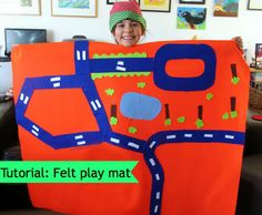 Tutorial: How to create a felt play mat with your child.