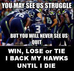 Win, Lose, or Tie I back my Hawks until I die