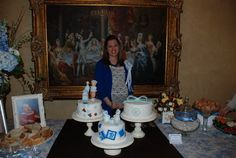 Mom an her cake table