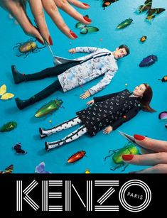 #Kenzo fw13 Campaign #Anzeigen #Ideen & #Inspiration #Campaign #Werbung #advertise #design #layout #graphicdesign #posterdesign #Plakat #Print