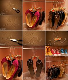 What an Amazing Shoe Storage Idea is This Shoe Hangers Tutorial