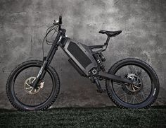 Stealth Bomber Electric Bike by the British electric bike company Stealth | Combined with your own leg strength, the Bomber uses 4.5kW of electric power via the 9 speed sequential gearbox. What this equates to is quick starts, easier climbs and longer, nearly silent journeys. |