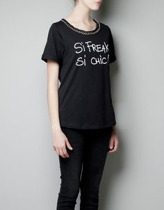 IN LOVE WITH THIS ZARA T-SHIRT!!!!!!!!!!!!!!!!!!!!!!!!!!!!!!!!!!!!!! So tempted to get as a Christmas present for me....