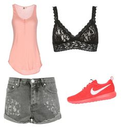 """Untitled #25"" by sami-cardinals on Polyvore featuring Roxy, One Teaspoon, Hanky Panky and NIKE"