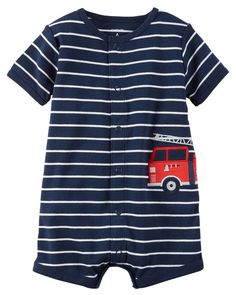 Snap-Up Cotton Romper from Carters.com. Shop clothing & accessories from a trusted name in kids, toddlers, and baby clothes.