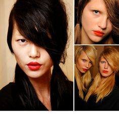 Laura Mercier Redd Lipstick.  As you can see from the photo, it looks good on different skin tones and hair colors