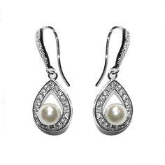 Vita crystal and pearl vintage drop earrings from Debbie Carlisle