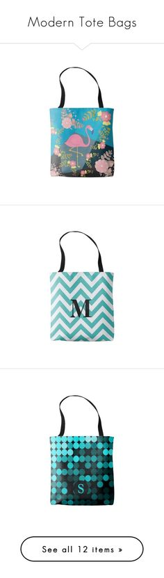 """""""Modern Tote Bags"""" by shabzdesigns ❤ liked on Polyvore featuring bags, handbags, tote bags, totes, pink tote bag, pink purse, tote handbags, pink tote handbags, tote purse and initial tote bag"""