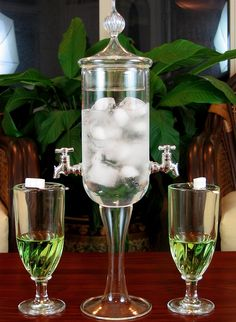 Absinthe Fountain Set With Glasses And Spoons