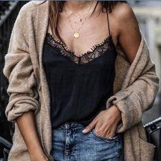 Sling Lace Black Shirt