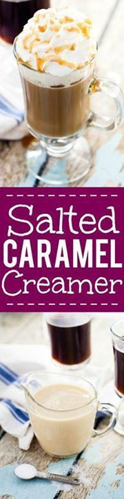 Homemade Salted Cara Homemade Salted Caramel Coffee Creamer...  Homemade Salted Cara Homemade Salted Caramel Coffee Creamer Recipe - Take your coffee to the next scrumptiously sweet level with this Homemade Salted Coffee Creamer recipe with all the sweetness of salted caramel right in your coffee. Recipe : http://ift.tt/1hGiZgA And @ItsNutella  http://ift.tt/2v8iUYW
