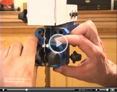 Setting Up Bandsaw Blade Guides: How to set up a bandsaw blade guide. Click play to watch.