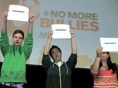No More Bullies campaign kicks off season 2 at Renfrew Collegiate Institute. Bullies, Season 2, Charity, Kicks, Campaign, Shit Happens, Spaces, Education, Shirt