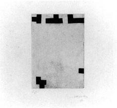 Eduardo Chillida (1924-2002), Enparantza II, 1981. Etching. 17.3cm H x 12.2cm W. Edition of 50 copies.