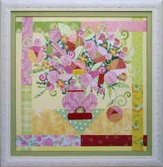 Spring Bouquet paper collage