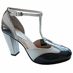 Diesel Women's 'Neveau' Saddle T-strap Heels | Overstock.com Shopping - The Best Deals on Heels