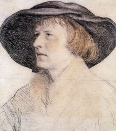 List of portrait drawings by Hans Holbein the Younger - Wikipedia Renaissance Portraits, Renaissance Paintings, Renaissance Art, Portrait Draw, Portrait Sketches, Hans Holbein The Younger, Old Master, Gravure, Art Pages