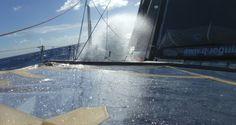 Photo sent from the boat Queguiner - Leucemie Espoir, on November 11th, 2016 - Photo Yann EliesPhoto envoyée depuis le bateau Queguiner - Leucemie Espoir  le 11 Novembre 2016 -  Photo Yann Eliesça mouille