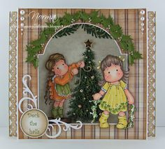 From My Craft Room, Christmas card, Magnolia stamp