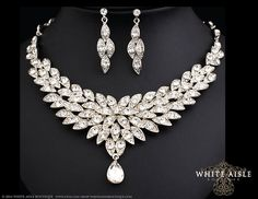 Bridal Statement Necklace Wedding Jewelry by WhiteAisleBoutique, $83.00