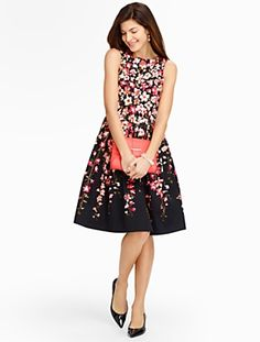 Talbots - Gladiola-Print Sateen Dress | Dresses | Misses
