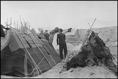 March Tents in an internment camp for Spanish refugees. (From the Mexican Suitcase)//Robert Capa Florida Camping, Lake Arrowhead, Happy Valley, Magnum Photos, Civilization, Spanish, Barcelona, 1, Pictures