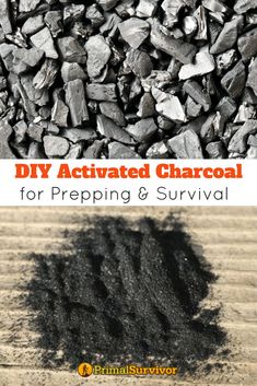How to Make DIY Activated Charcoal for Prepping and Survival. From filtering water to making your own gas mask or treating a poisoning, activated charcoal has a lot of valuable uses in a survival situation. Making your own takes time but it is ultimately more cost effective. A pound of activated charcoal costs $12-$15 while making your own is less than $1 per pound. #survival #preppers #preppertalk #primalsurvivor #activatedcharcoal #uses #shtf