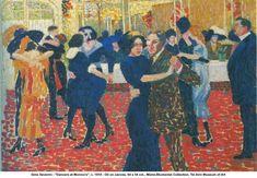 Dancers at Monicos, 1910, Gino Severini Medium: oil, canvas