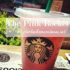 The Pink Rocket Frappuccino, a fruity blend for those days you don't feel like having coffee or tea. Recipe here: http://starbuckssecretmenu.net/starbucks-secret-menu-the-pink-rocket/ #StarbucksSecretMenu