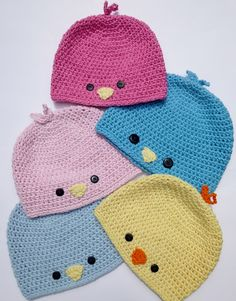 Crochet Baby Birds or Baby Chick Hat, http://crochetjewel.com/?p=4959