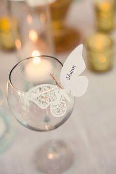 Place Card borboleta - 10 unidades  #festa #borboleta #papel #enfeite