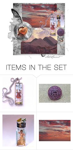 """""""Two Heart Beats"""" by artspirit ❤ liked on Polyvore featuring art and WonderfulWorld"""
