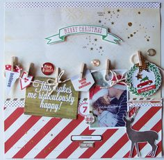 #papercraft #scrapbook #layout. Merry Christmas by lory at @studio_calico