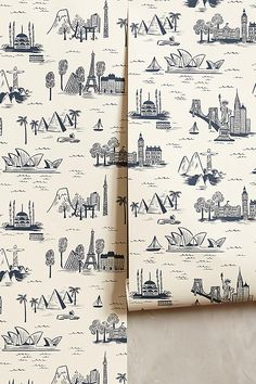 Slide View: 1: Cities Toile Wallpaper