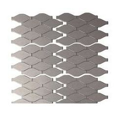 Metal Decorative Tiles Aspect Wide Hex 6 Inx 4 Inmatted Metal Decorative Backsplash