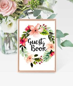 Printable Guest Book Sign 8x10 PDF Bridal Shower