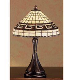 """Meyda 18.5""""H Greek Key Accent Lamp"""